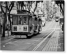 Acrylic Print featuring the photograph San Francisco Cable Cars by Eddie Yerkish