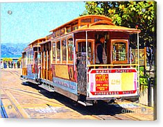 San Francisco Cablecar At Fishermans Wharf . 7d14097 Acrylic Print by Wingsdomain Art and Photography