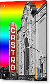 Acrylic Print featuring the photograph San Francisco Castro Theater . 7d7579 by Wingsdomain Art and Photography
