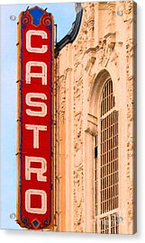 San Francisco Castro Theater Acrylic Print by Wingsdomain Art and Photography
