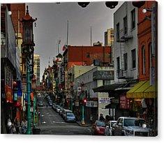 San Francisco - Chinatown 001 Acrylic Print by Lance Vaughn