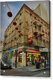 San Francisco - Chinatown 006 Acrylic Print by Lance Vaughn