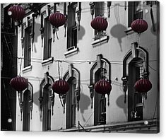 San Francisco Chinatown Acrylic Print by Larry Butterworth