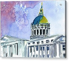 San Francisco City Hall Acrylic Print by Tom Simmons