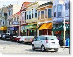 San Francisco Clement Street 2 Acrylic Print by Wingsdomain Art and Photography