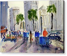 San Francisco Embarcadero Acrylic Print by Tom Simmons