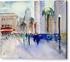 San Francisco Embarcadero1 Acrylic Print by Tom Simmons