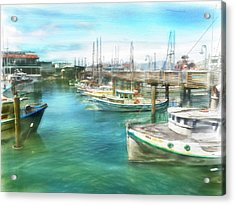 San Francisco Fishing Boats Acrylic Print
