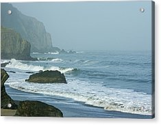 San Francisco Fog - China Beach Rolling Surf Acrylic Print