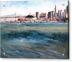 San Francisco From Marin Acrylic Print