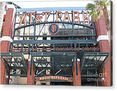 San Francisco Giants Att Park Willie Mays Entrance . 7d7635 Acrylic Print by Wingsdomain Art and Photography