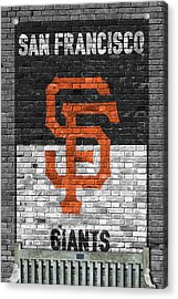 San Francisco Giants Brick Wall Acrylic Print by Joe Hamilton