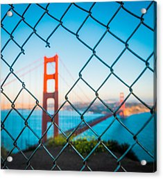 San Francisco Golden Gate Bridge Acrylic Print by Cory Dewald