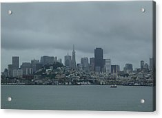 San Francisco Gray Acrylic Print by Gordon Beck