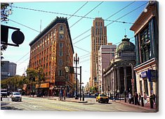 San Francisco Intersection, 2007 Acrylic Print by Frank Romeo