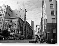 San Francisco - Jessie Street View - Black And White Acrylic Print