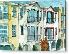 Acrylic Print featuring the painting San Francisco by Lynn Babineau