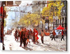 San Francisco Market Street . 40d3701 Acrylic Print by Wingsdomain Art and Photography