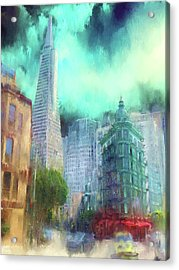 San Francisco Acrylic Print by Michael Cleere