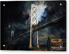 San Francisco Nights At The Bay Bridge . 7d7748 Acrylic Print