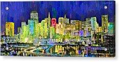 San Francisco Skyline 119 - Pa Acrylic Print by Leonardo Digenio