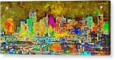 San Francisco Skyline 131 - Pa Acrylic Print