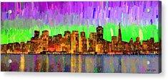 San Francisco Skyline 14 - Da Acrylic Print by Leonardo Digenio