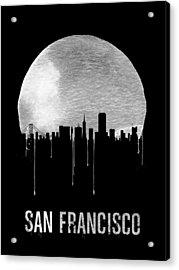 San Francisco Skyline Black Acrylic Print by Naxart Studio
