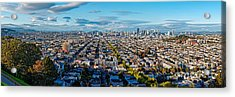San Francisco Skyline From Bernal Heights Park At Sunset - San Francisco California Acrylic Print