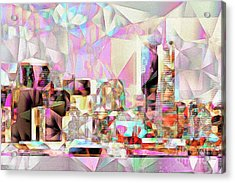 Acrylic Print featuring the photograph San Francisco Skyline In Abstract Cubism Eos 5d29399 20170326 by Wingsdomain Art and Photography