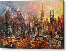 Acrylic Print featuring the painting San Francisco by Tatiana Iliina