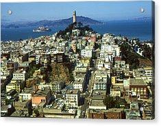 San Francisco - Telegraph Hill And Alcatraz Acrylic Print