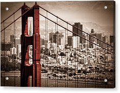 San Francisco Through The Bridge Acrylic Print