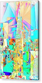 Acrylic Print featuring the photograph San Francisco Transamerica Tower In Abstract Cubism 20170326 by Wingsdomain Art and Photography