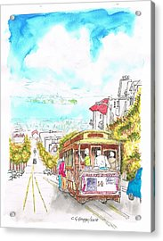 San Francisco Trolley - California Acrylic Print
