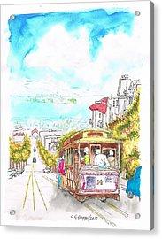 San Francisco Trolley - California Acrylic Print