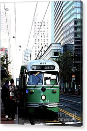 San Francisco Trolley Castro Line . 40d3023 Acrylic Print by Wingsdomain Art and Photography