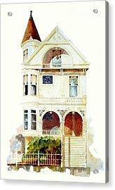 San Francisco Victorian Acrylic Print by William Renzulli