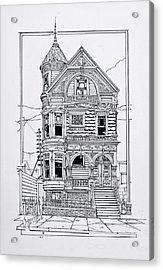 San Francisco Victorians  Acrylic Print