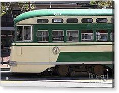 San Francisco Vintage Streetcar On Market Street - 5d17973 Acrylic Print by Wingsdomain Art and Photography