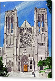 San Francisco's Grace Cathedral Acrylic Print by Mike Robles