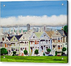 San Francisco's Painted Ladies Acrylic Print
