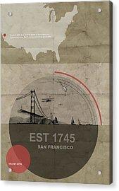 San Fransisco Acrylic Print by Naxart Studio
