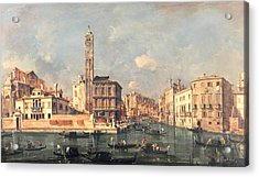 San Geremia And The Entrance To The Canneregio Acrylic Print by Francesco Guardi