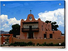 San Ildefonso Pueblo Acrylic Print by David Lee Thompson