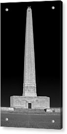 Acrylic Print featuring the photograph San Jacinto Star Black And White by Joshua House