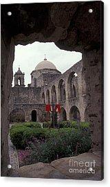 San Jose Mission Courtyard San Antonio Texas  Acrylic Print