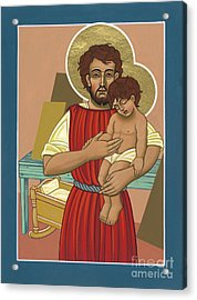 Acrylic Print featuring the painting Retablo De San Jose Obrero 301 by William Hart McNichols