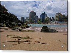 San Juan Beach Iv Acrylic Print by Anna Villarreal Garbis