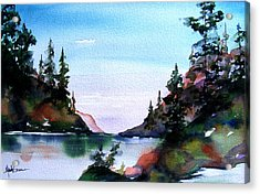 Acrylic Print featuring the painting San Juan Island by Marti Green